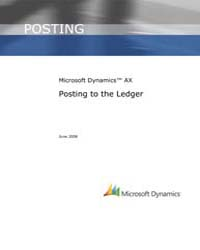 Microsoft Dynamic Ax Posting to the Ledg... by Microsoft Corporation